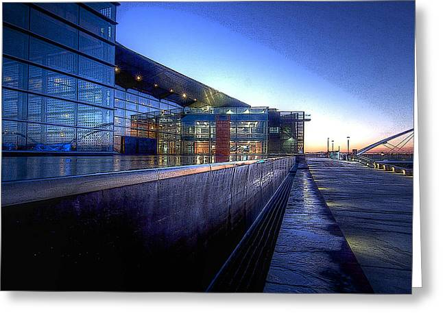 Big Blue Marble Greeting Cards - Tempe Center for the Arts Greeting Card by Kelly Gibson