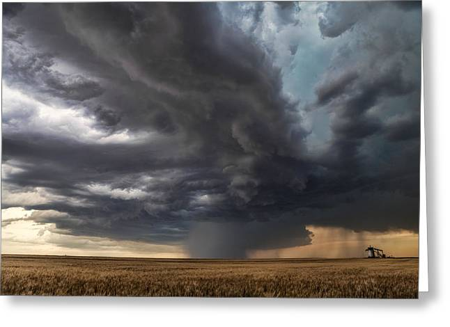 Summer Storm Photographs Greeting Cards - Tempest Greeting Card by Jill Van Doren Rolo