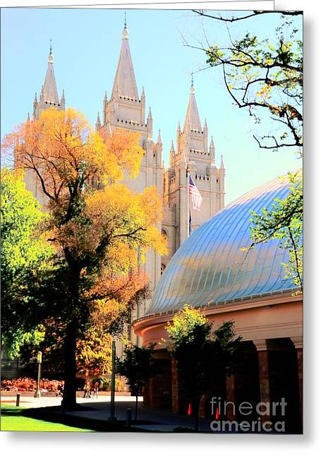 Kathleen Struckle Greeting Cards - Temple And Tabernacle Greeting Card by Kathleen Struckle