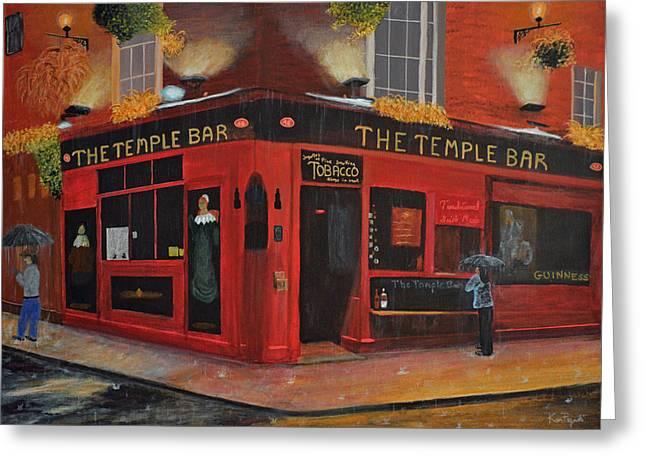Temple Bar Dublin  Greeting Card by Ken Figurski
