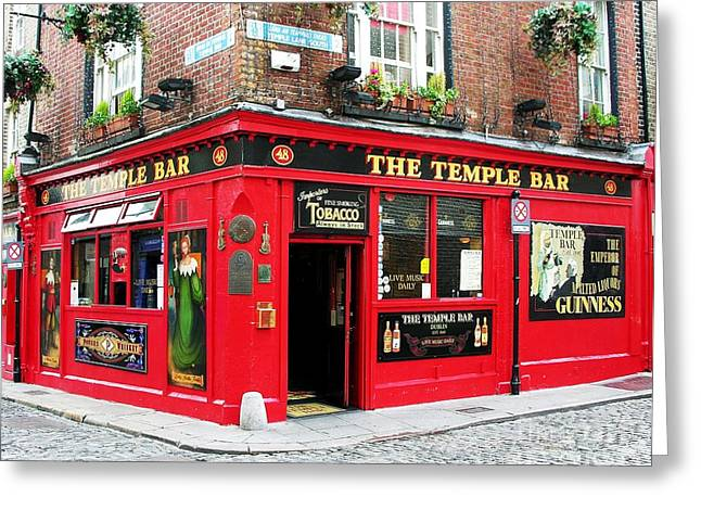 Saloons Greeting Cards - Temple Bar Greeting Card by Mel Steinhauer