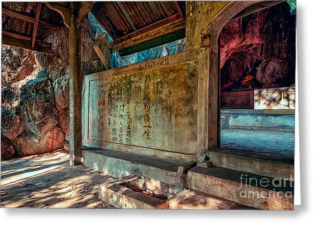 Buddhist Digital Greeting Cards - Temple Cave Greeting Card by Adrian Evans