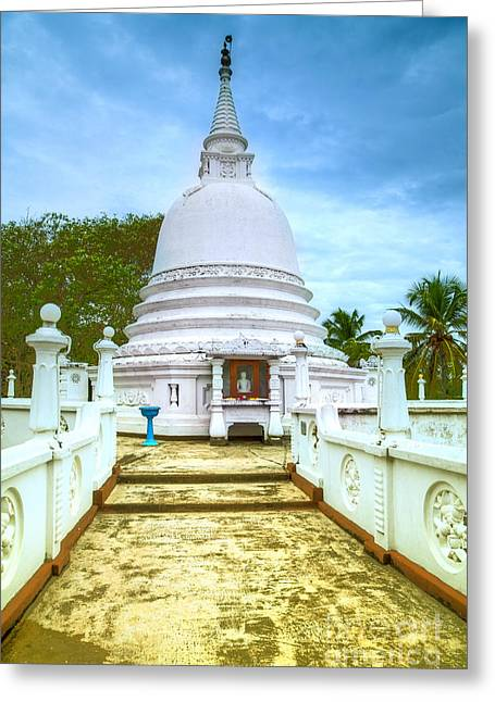 temple complex at the tropical island Sri Lanka Greeting Card by Regina Koch