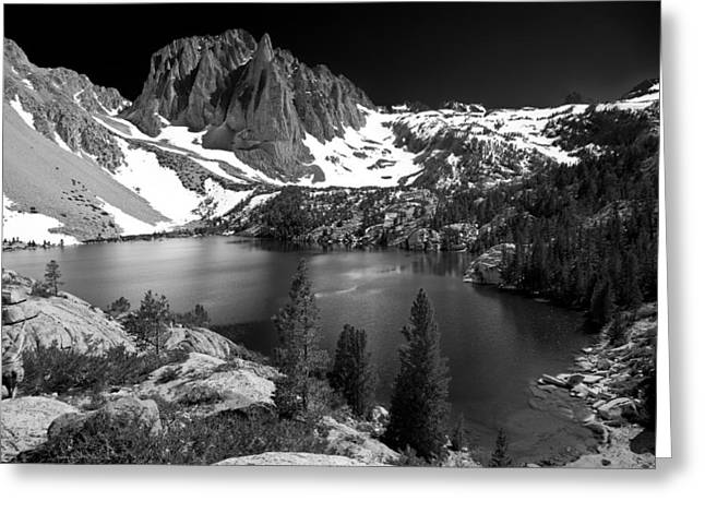 Mountains And Lake Greeting Cards - Temple Crag Greeting Card by Cat Connor