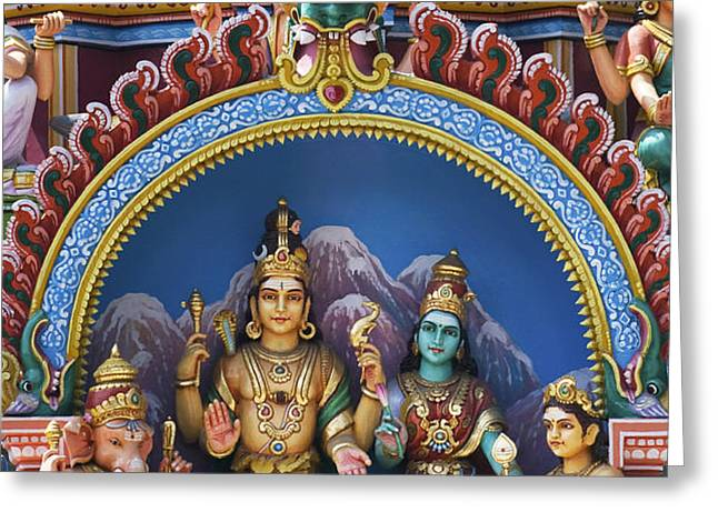 Temple Deity Statues India Greeting Card by Tim Gainey