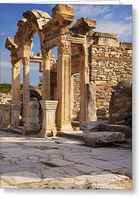 Selcuk Greeting Cards - Temple in Ephesus Greeting Card by Brian Jannsen