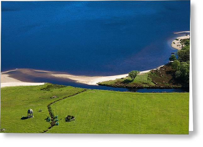 Lough Greeting Cards - Temple, Lough Tay ,county Wicklow Greeting Card by Panoramic Images