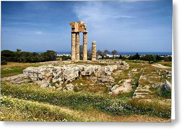 Rhodes Greeting Cards - Temple of Appollon Greeting Card by Mountain Dreams