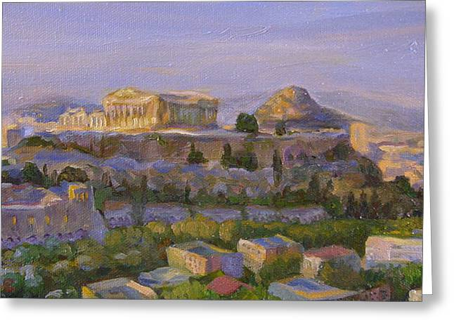Temple Of Athena Greeting Cards - Temple of Athena Greeting Card by Brian Coyne