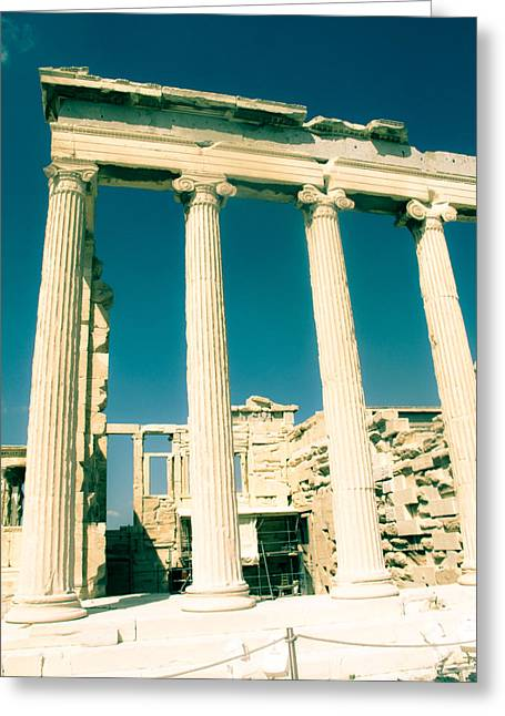 Temple Of Athena Greeting Cards - Temple of Athena Greeting Card by Leslie Cooper
