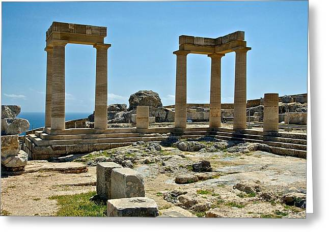 Rhodes Greeting Cards - Temple of Athena Greeting Card by Mountain Dreams
