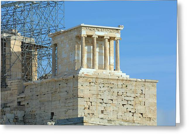 Temple Of Athena Greeting Cards - Temple of Athena Nike Greeting Card by Grigorios Moraitis