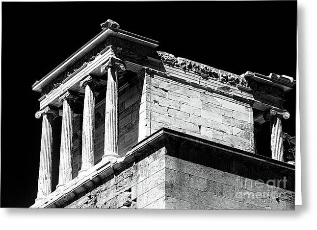 Greek Ruins Greeting Cards - Temple of Athena Nike Greeting Card by John Rizzuto