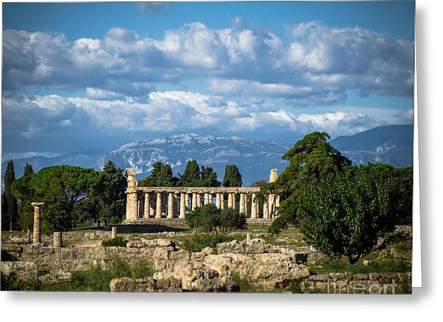 Temple Of Athena Greeting Cards - Temple of Athena Greeting Card by Prints of Italy