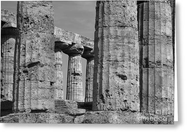 Temple Of Athena Greeting Cards - Temple of Athena Greeting Card by R Dupras