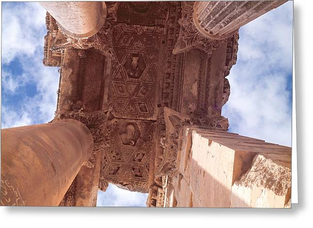 Corinthian Greeting Cards - Temple Of Bacchus, Roman Photo Greeting Card by .