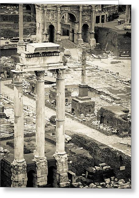 Pollux Greeting Cards - Temple of Castor and Pollux Greeting Card by David Waldo