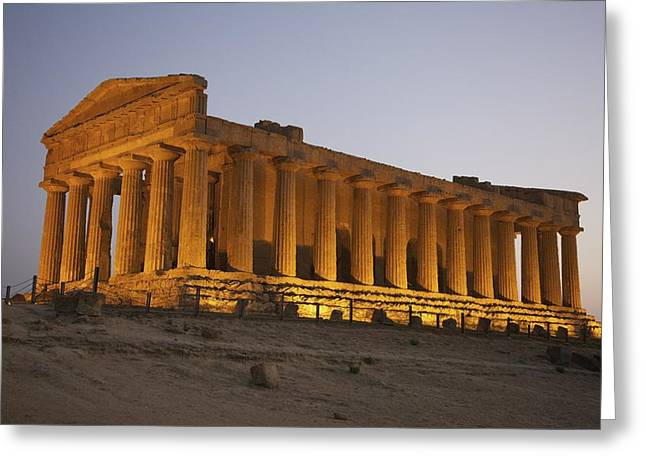 Greek Temple Greeting Cards - Temple Of Concordia In The Valley Of Greeting Card by Patrick Swan