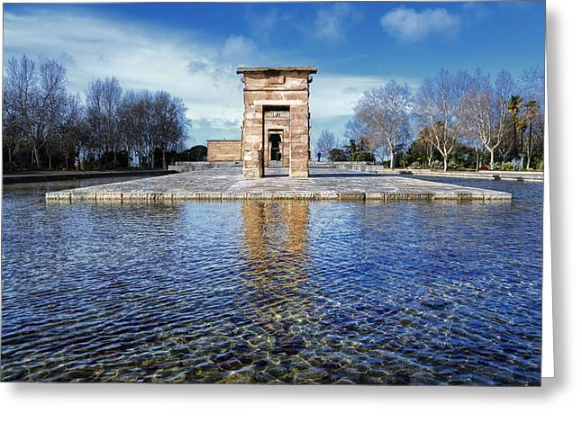 Temple Of Debod Greeting Card by Joan Carroll
