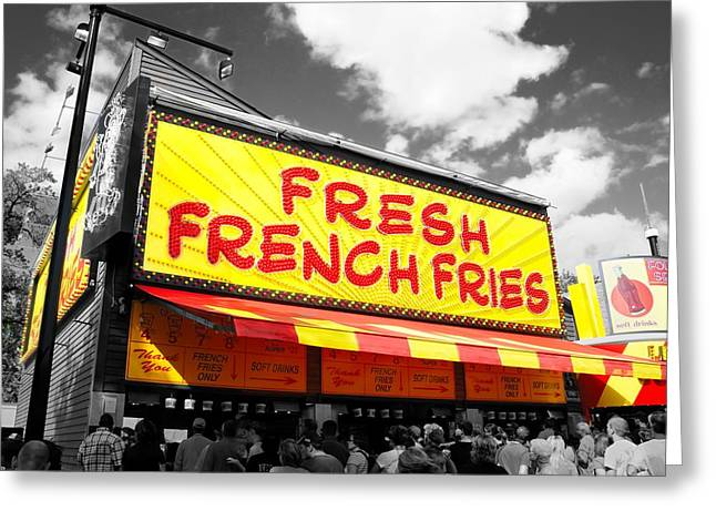 Fod Greeting Cards - Temple of Fries Greeting Card by Jim Hughes