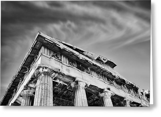 Temple Photographs Greeting Cards - Temple of Hephaestus- Athens Greeting Card by Rod McLean