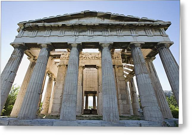 Greek Temple Greeting Cards - Temple Of Hephaestus In Ancient Agora Greeting Card by Daniel Alexander