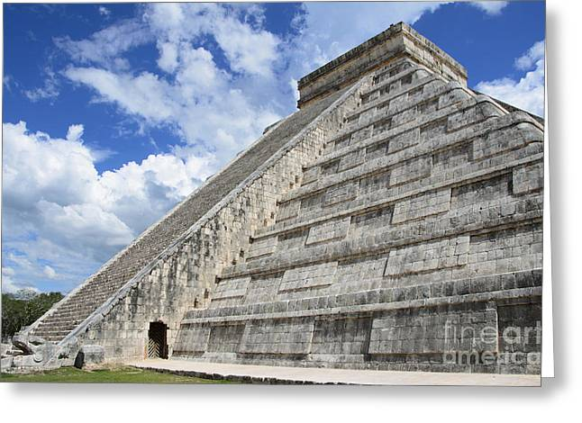 Civilization Pyrography Greeting Cards - Temple of Kukulcan at Chichen Itza Greeting Card by Yoshiko Wootten