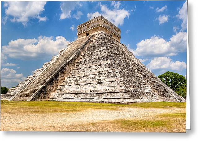 Chichen Itza Greeting Cards - Temple of Kukulkan at Chichen Itza Greeting Card by Mark Tisdale