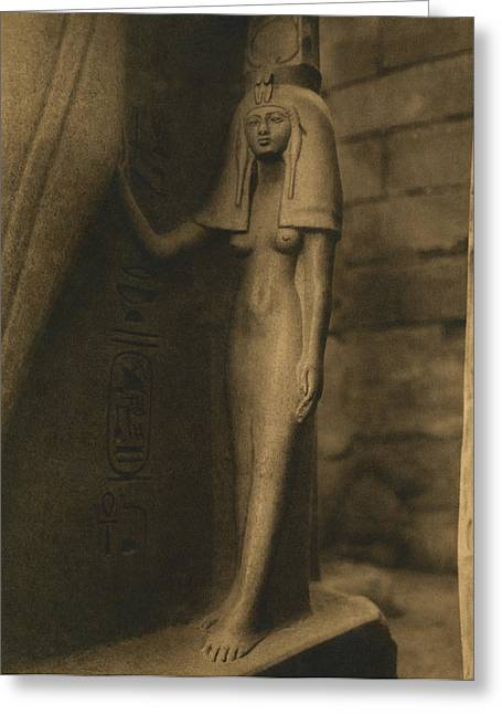 Temple Of Luxor Greeting Card by Underwood Archives