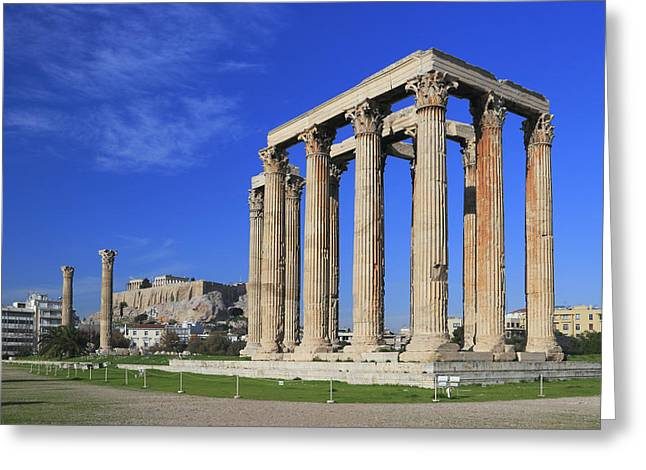Temple of Olympian Zeus Athens Greece Greeting Card by Ivan Pendjakov