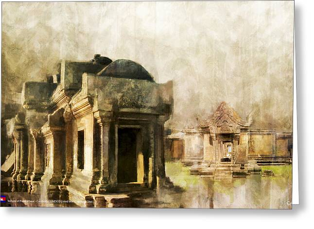 Hotels And Resorts Greeting Cards - Temple of Preah Vihear Greeting Card by Catf