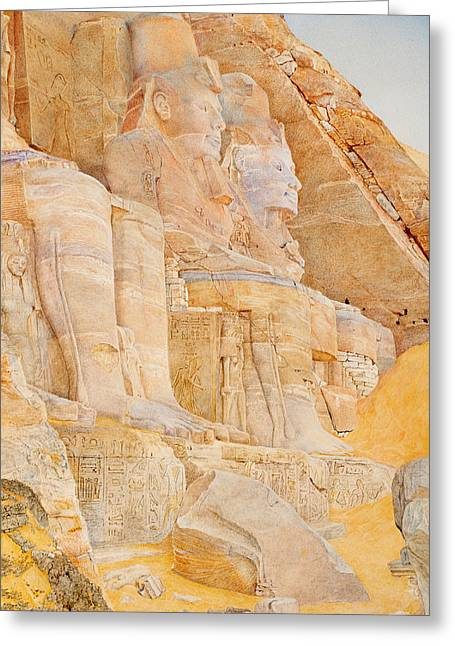 Pharaoh Greeting Cards - Temple of Ramses II Greeting Card by Henri Newmann