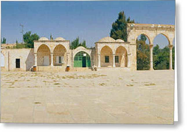 Temple Of Rocks, Dome Of The Rock Greeting Card by Panoramic Images