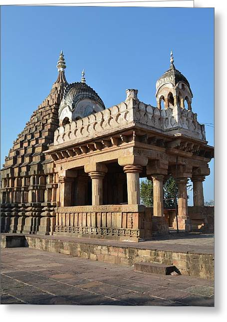 Scene Greeting Cards - Temple of the 64 Yoginis - Jabalpur India Greeting Card by Kim Bemis