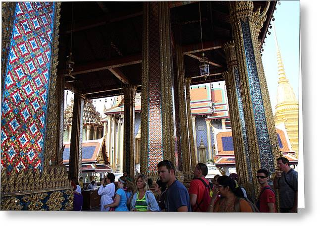 Emerald Greeting Cards - Temple of the Emerald Buddha - Grand Palace in Bangkok Thailand - 011310 Greeting Card by DC Photographer