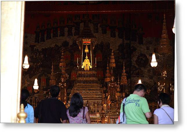 Temple Of The Emerald Buddha - Grand Palace In Bangkok Thailand - 011311 Greeting Card by DC Photographer