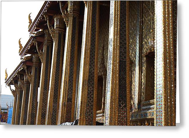 Emerald Greeting Cards - Temple of the Emerald Buddha - Grand Palace in Bangkok Thailand - 011312 Greeting Card by DC Photographer