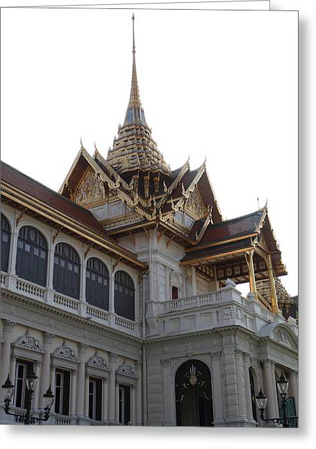 Temple Of The Emerald Buddha - Grand Palace In Bangkok Thailand - 011313 Greeting Card by DC Photographer