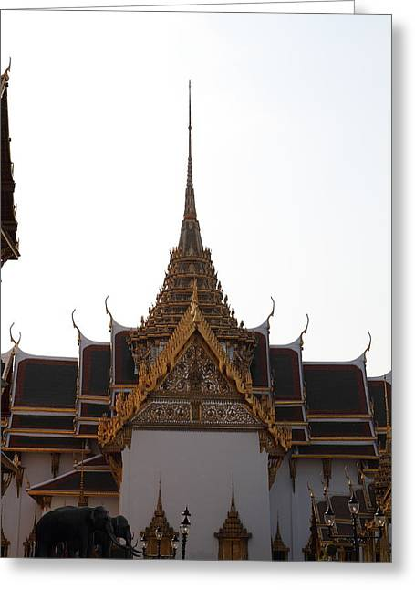 Emerald Greeting Cards - Temple of the Emerald Buddha - Grand Palace in Bangkok Thailand - 011315 Greeting Card by DC Photographer