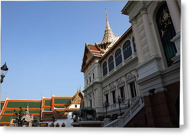 Emerald Greeting Cards - Temple of the Emerald Buddha - Grand Palace in Bangkok Thailand - 011317 Greeting Card by DC Photographer