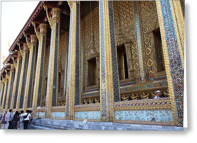 Emerald Greeting Cards - Temple of the Emerald Buddha - Grand Palace in Bangkok Thailand - 01133 Greeting Card by DC Photographer
