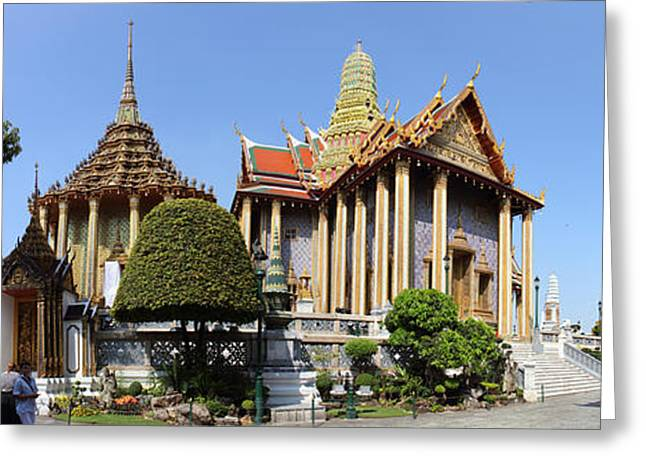 Buddha Photographs Greeting Cards - Temple of the Emerald Buddha - Grand Palace in Bangkok Thailand - 01134 Greeting Card by DC Photographer