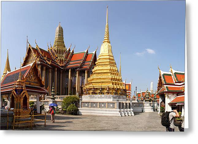Emerald Greeting Cards - Temple of the Emerald Buddha - Grand Palace in Bangkok Thailand - 01135 Greeting Card by DC Photographer