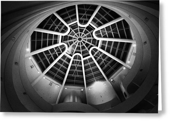 The Guggenheim Greeting Cards - Temple of the Spirit Greeting Card by Natasha Marco