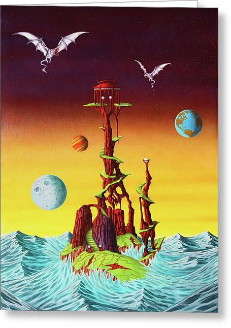 Unforgiven Greeting Cards - Temple of the Unforgiven Greeting Card by Sue Brehm