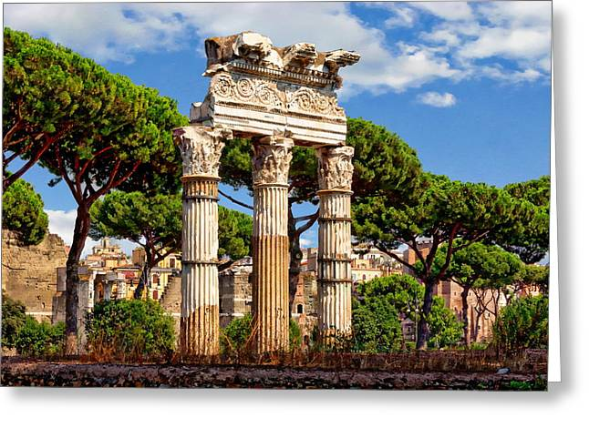 Historic Architecture Greeting Cards - Temple of Venus Genetrix Greeting Card by Anthony Dezenzio