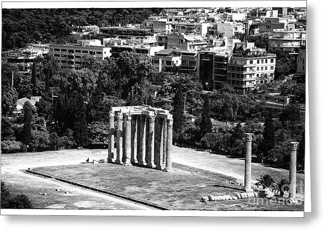 Greek School Of Art Greeting Cards - Temple of Zeus II Greeting Card by John Rizzuto