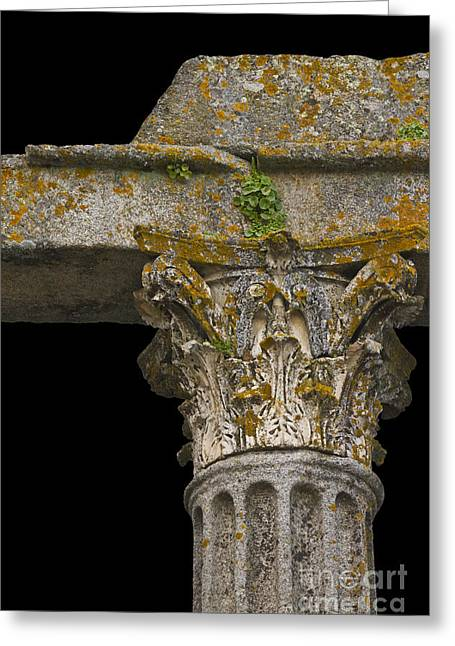 Geometric Style Greeting Cards - Temple Ruin Fragment Greeting Card by Heiko Koehrer-Wagner