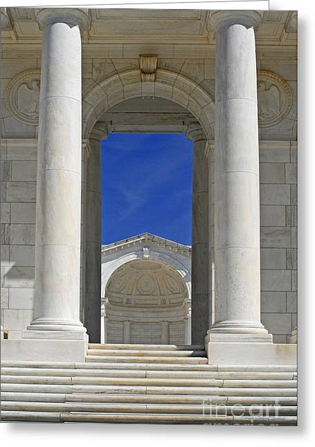 Arlington Greeting Cards - Temple steps Greeting Card by Paul W Faust -  Impressions of Light