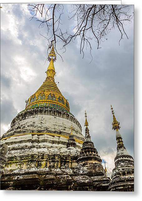 Thai Antiquities Greeting Cards - Temple Thailand Greeting Card by Aoshi Vn